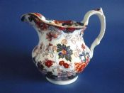 Rare Charles Meigh Stone China 'Amherst Japan' Pattern Jug c1840